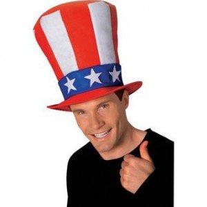 Hoher Hut von Form Onkel Sam USA für (Onkel Sam Erwachsenen Kostüme Erwachsene)