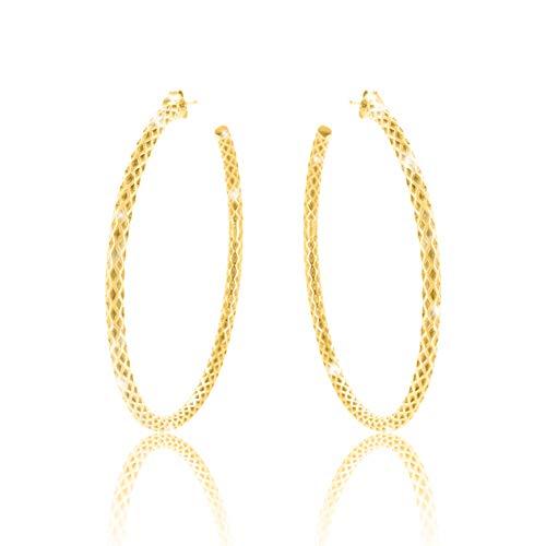 PAVEL'S aros grandes pendientes ELEGANCE aros de 60 mm y 18k de oro co