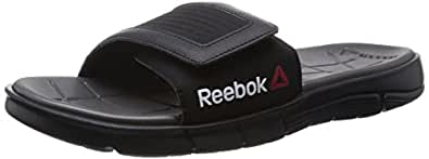 Reebok Men's Reebok Z Supreme Slide Black and White Leather Thong Sandals - 6 Uk
