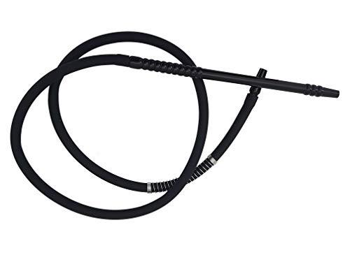 Manguera de silicona para cachimba de 1,49 metros (Modelo N6). Dos colores (negra)