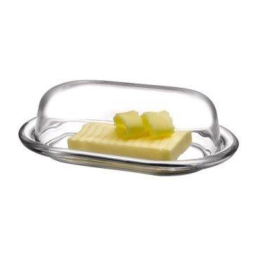 PASABAHCE ' 98402 – Beurrier, boîte hermétique Basic 19,7 x 13,1 cm, 2 pièces en verre