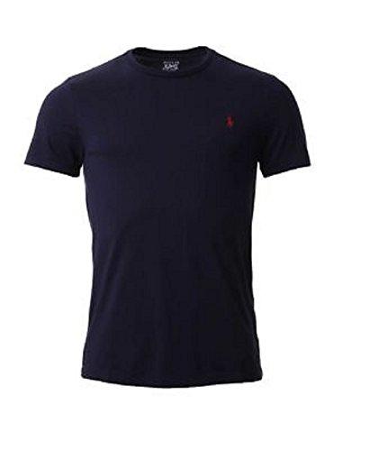 low priced 86aba 88e17 Ralph Lauren.Men's Custom Fit Crew Neck Short Sleeve T-Shirt (Navy Blue,  X-Large)