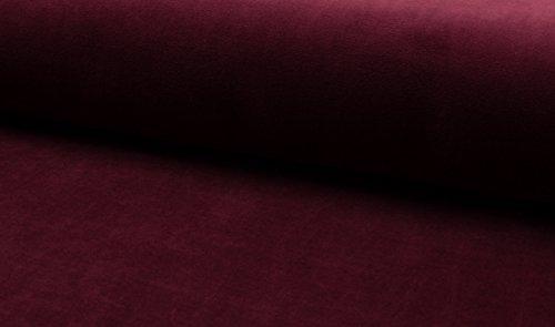 StoffBook BORDEAUX EDEL BAUMWOLLE STRETCH SAMTSTOFF NICKISAMT STOFF STOFFE, D348 Stretch Velvet