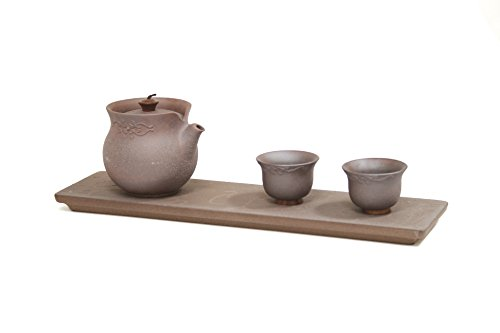 Tea Soul LIN'S Ceramics Studio PURION Esquire KANNE Set 4 STÜCK, Clay, braun 36.5 x 12 x 28 cm -