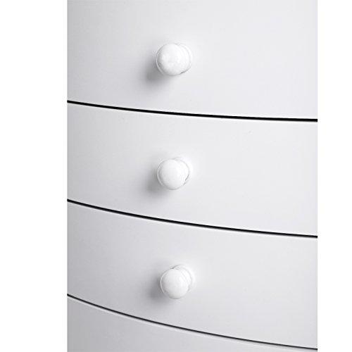 Songmics Schmuckschrank Schmuckkommode mit Spiegel große Kapazität Innenfutter aus Samt 8 Schubladen skandinavischer Stil minimalistisches Design MDF-Platten weiß JBC17W - 9