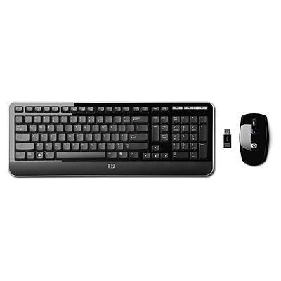 HP 2.4 GHz Wireless Tastatur und Maus (Englisch UK) - languagesource.com Com Wireless Keyboard