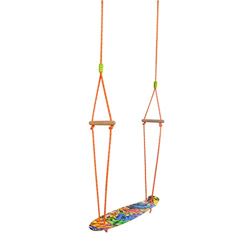 XUANLAN Children's Indoor and Outdoor Plastic Skateboard Swing, Material Safety, Strong Carrying Capacity (Color : Multi-colored)