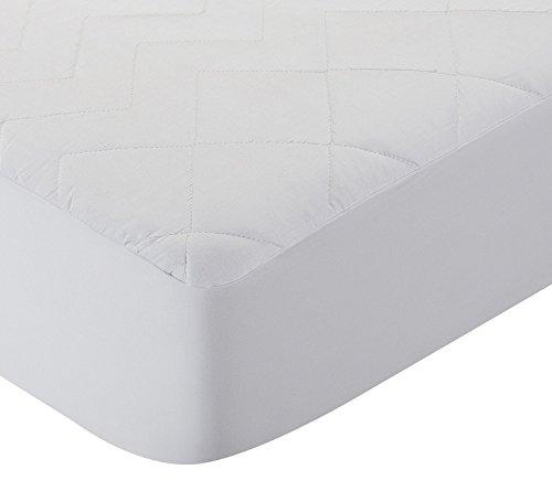 Pikolin Home - Protector de colchón acolchado cubre colchón, antialérgico, antiácaros, antibacterias y antimoho, transpirable, 100% algodón, 150 x 190/200 cm, cama 150 (Todas las medidas)