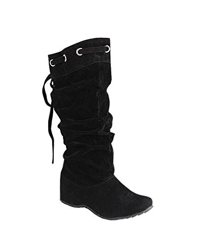Minetom Femme Hiver Chaudes Bottines Footwear Sexy Chaussures Flats Snow Boots Noir