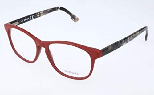 Diesel Unisex-Erwachsene DL5187 067-54-15-145 Brillengestelle, Rot, 54