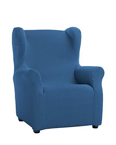Martina Home Schutzhülle aus elastischem Sessel Modell Tunez Bezug für Ohrensessel 33x42x8 cm Blau (AZAFATA)