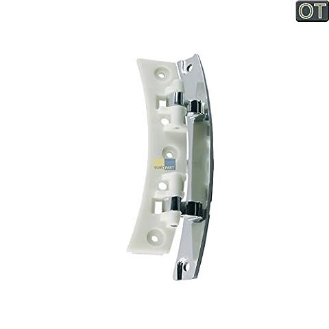 Bosch Siemens 646933 00646933 ORIGINAL Scharnier Türscharnier Tür Bullauge chrom weiß Metall Kunststoff Wäschetrockner Trockner Trocknerautomat