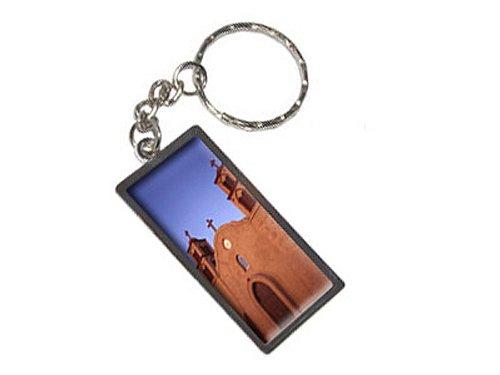 Mission-kette (Old San Miguel Mission–Adobe Kirche New Mexiko Schlüsselanhänger Ring)