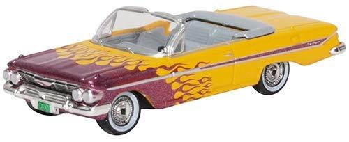 Oxford Lila (Oxford 87CI61004 Chevrolet Impala Cabriolet gelb/ metallic lila Hot Rod Maßstab 1:87)