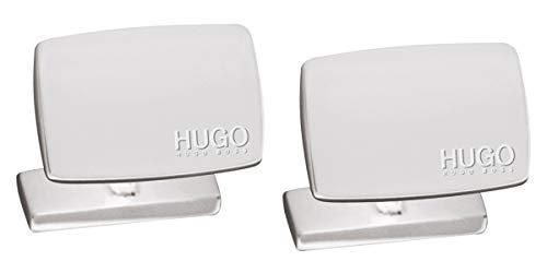 HUGO 50316380 E-Liberty Manschettenknöpfe Silber