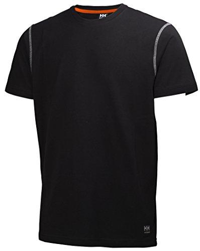 Helly Hansen Workwear Leichtes T-Shirt Oxford robustes Arbeitsshirt 990, Größe XXL, schwarz, 79024