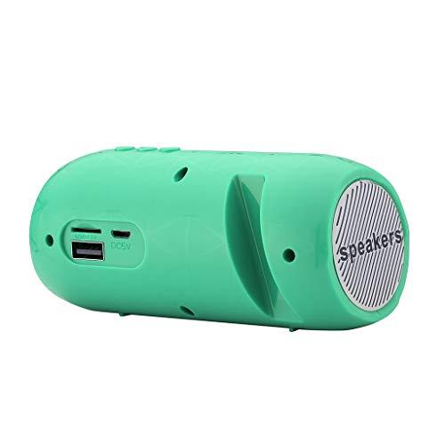 CAOQAO Enceinte Bluetooth Portable Speaker,Peut IntéGrer TéLéPhone Portable,en Plein Air sans Fil Haut-Parleur Audio StéRéO Basse ÉTanche Soundbox,Compatible avec IPhone, Windows, Ou Android,Vert