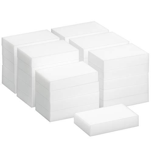 Einen Schritt Sanftes Reinigungsmittel (Trixes 30 Stück Wunder-Reinigungsschwamm, Wunder-Schmutzradierer, Fleckenentferner-Pad, Eco, Weiß)