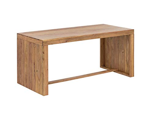 Woodkings Schreibtisch Hankey 160x70cm, Akazie Helles Holz, massiv rustikal Arbeitstisch, Bürotisch Landhaus Stil Design Büromöbel Computertisch, Auch perfekt als Esstisch