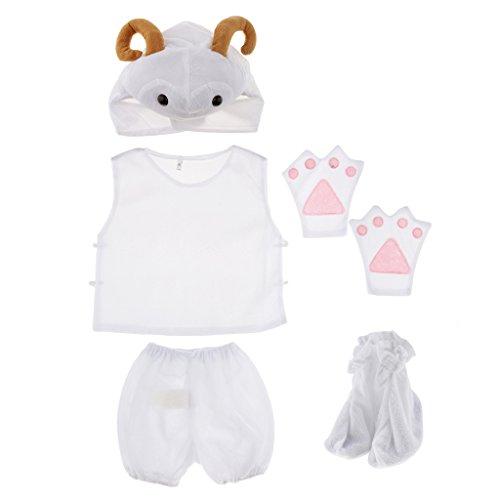Baoblaze Kinder Tierkostüm Tier Kostüm Baby Fotoshooting Kostüm für Halloween Karneval Fasching - Schaf