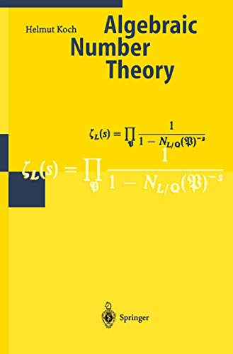 Algebraic Number Theory (Encyclopaedia of Mathematical Sciences)
