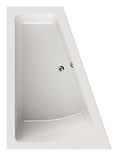 AquaSu 80184 3 Acryl droPino, Weiß, Wanne, Badewanne, Bad, Badezimmer, 170 x 125 cm | Rechte Ausführung
