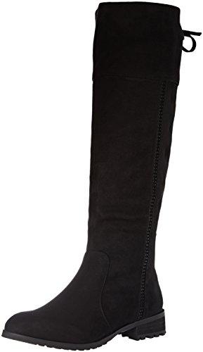 XTI Bota Sra. Antelina, Zapatos de tacón con Punta Cerrada para Mujer, Negro Negro, 37 EU