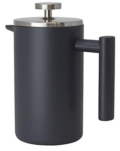 Mira Kaffeebereiter aus Edelstahl, 0,6 l, doppelwandig, isoliert, Kaffee- und Tee-Brauer, Topf & Macher, hält gebrühten Kaffee oder Tee warm, 600 ml grau - Filter Keurig Karaffe
