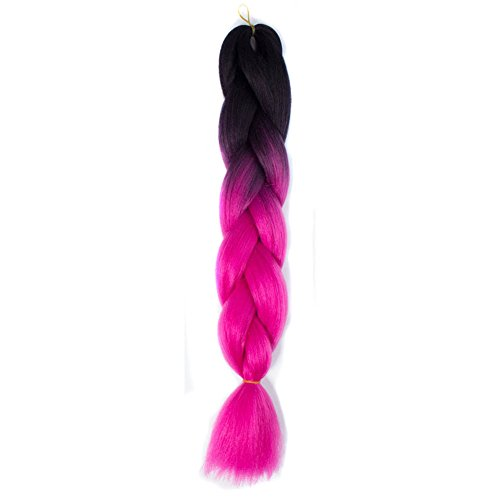 lzn Ombre Jumbo Braid Geflecht Perücken Synthetische Flechthaar Haarverlängerung 60cm/ 24inch - Synthetische Haarverlängerungen