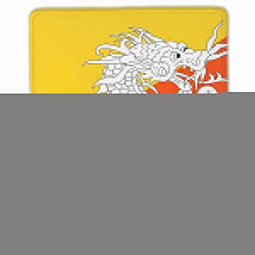 Bhutan Flag (Bhutan Flag Rectangle Non-Slip Rubber Mouse Pad with Stitched Edges)