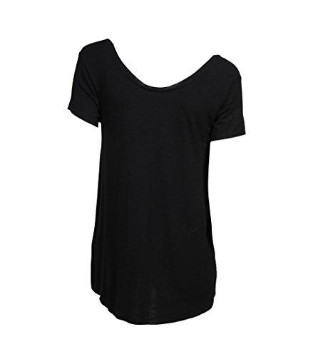 AMERICAN VINTAGE Damen Shirt Alba aus Viskose und Wolle schwarz Noir