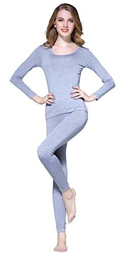 Vinconie Skiunterwäsche Damen Länge Leggings Atmungsaktive Warme Oberteile