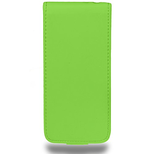 iPhone 5 und iPhone 5s Hülle Kunstlederhülle Flipcase blau von HORNY PROTECTORS® Flipcase grün