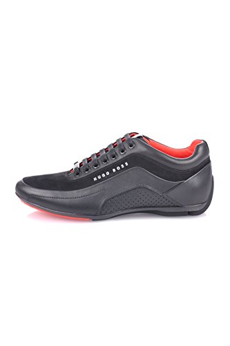 Hugo Boss Men's Hugo Boss Men's Black HB Racing Trainers Black