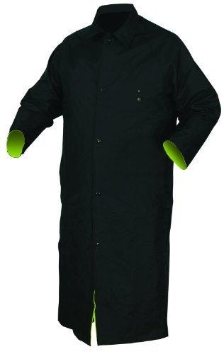 MCR Safety 7368CRX3 Luminator PVC/Nylon Reversible Coat with 2-Inch Silver Stripe, Lime/Black, 3X-Large by MCR Safety Nylon Reversible Coat