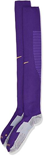 Nike Herren Team Matchfit Core OTC Sock Fußball-stutzen, Court Purple lila/Dunkel Iris/Grau, XS (Nike Performance Socken Gepolstert)