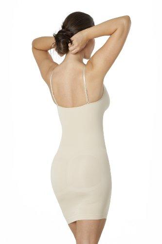 Sleex Figurformendes Miederkleid mit Traegern, Hautfarben, Groesse M/L