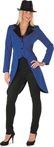 Frack Blauer Kostüm - Damen Kostüm Frack blau-schwarz Karneval Fasching Party Show Gr.36