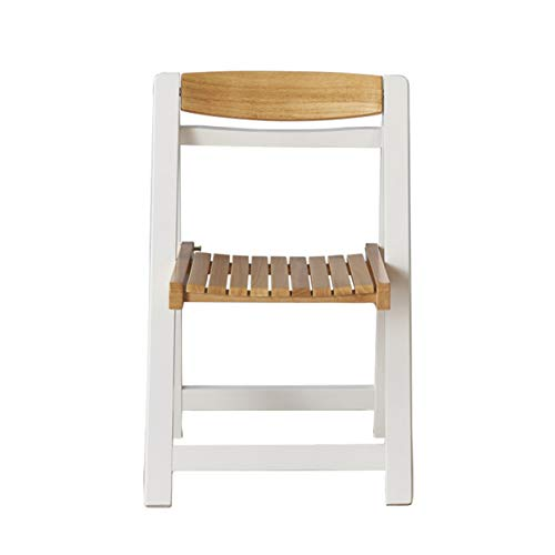 Stuhl, Der Die Einziehbare Kleine Wohnungsrestaurantwohnzimmerpartei Der Einfachen Mode Speist Gartenbalkon Im Freien Faltet,Beige and White,chair X4 - Wohnzimmer Stuhl Deckt