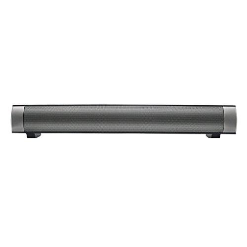 QHGstore IP-08 Soundbar Bluetooth 4.0 TV Sound Bar Unterstützung TF-Karte 3.5mm Aux 10W Lautsprecher mit Mikrofon schwarz (Lautsprecher-leiste Für Tv)