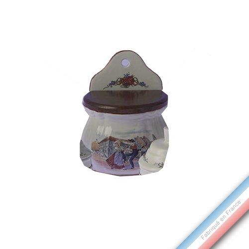 Lunéville 1730 Collection OBERNAI - Boîte à sel - H 16 cm - Lot de 1