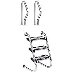 Escalera Modelo Partida Fácil Acceso con peldaños dobles Flexinox - AISI 316 - 87161021 - 3 Peldaños