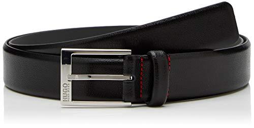 HUGO Herren Gürtel Gellot_Sz35, Schwarz (Black 001), 100, 676 (Cowboy Leder Gürtel Für Männer)