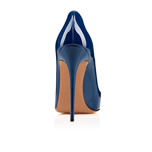 Arc-en-Ciel Damenschuhe Stilett-Absatz spitzen Zehepumpe Blau
