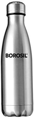 Borosil Stainless Steel Hydra Bolt - Vacuum Insulated Flask Water Bottle, 350ML
