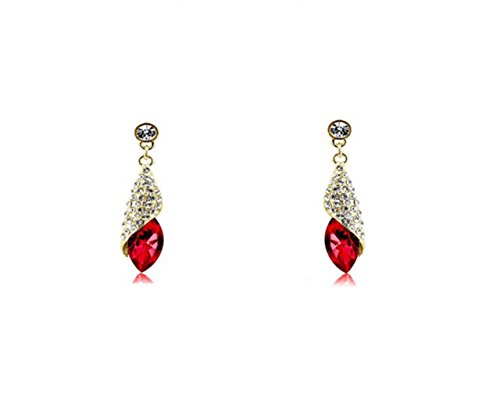 Glitz Fashion Drop & baumeln Ohrringe für Mädchen Party Wear Kristall jewelry- piurple