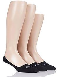 Herren 3 Paar Pringle Einfarbige Baumwolle Loafer-Socken