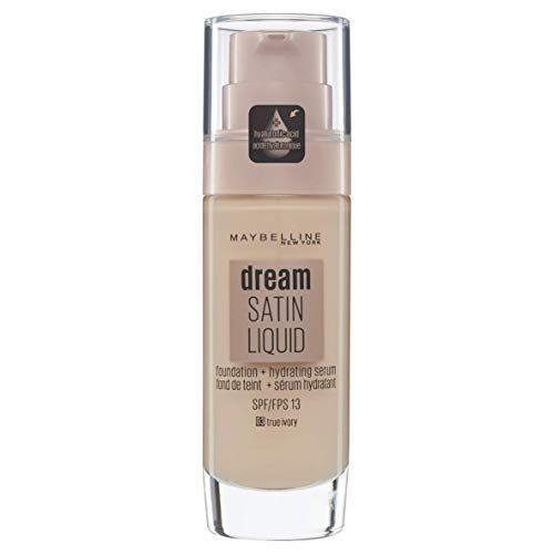 Maybelline Dream Satin Foundation Make-up Fluido 30 ml 3 Elfenbein (True Ivory) -