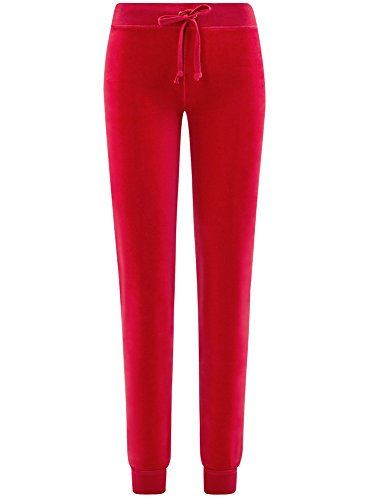 oodji Ultra Damen Sporthose mit Bindebändern Rot (4500N)