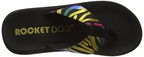 Rocket Dog - Spotlight, Sandali infradito Donna Nero (Black Prismatic)
